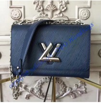 Louis Vuitton Epi Leather Twist MM Blue