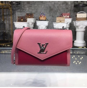 Louis Vuitton Mylockme BB Rose Boudoir Lie de Vin M51492