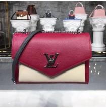 Louis Vuitton Mylockme BB Lie De Vin Etain Creme M52441