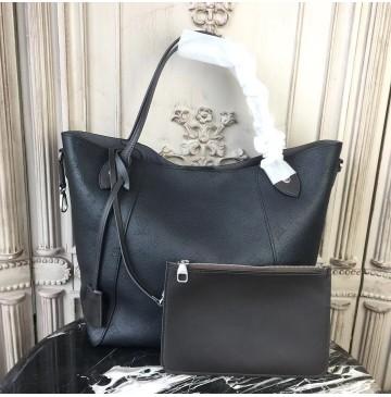Louis Vuitton Mahina Leather Hina MM Noir M54354