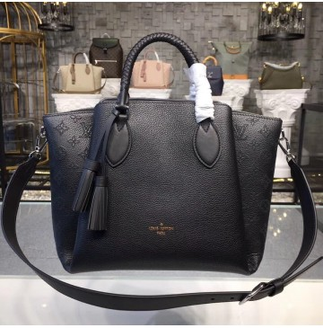 Louis Vuitton Mahina Leather Haumea Bag Noir M55029