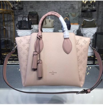 Louis Vuitton Mahina Leather Haumea Bag Magnolia M55030