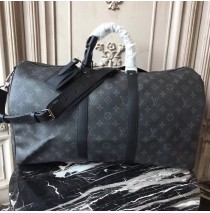 Louis Vuitton Monogram Eclipse Canvas Keepall 50 Bandouliere M40568