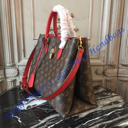 daadb25314c5d Louis Vuitton Monogram Canvas Flower Tote Coquelicot M43553