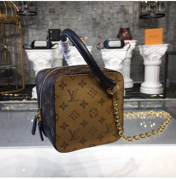 Louis Vuitton Monogram and Monogram Reverse Canvas Square Bag M43589