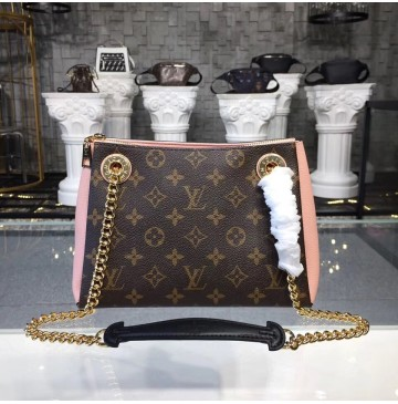 Louis Vuitton Monogram Canvas Surene BB with Rose poudre Leather M43777