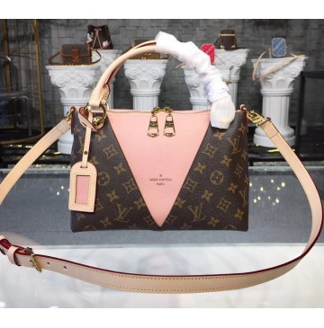 Louis Vuitton Monogram Canvas V Tote BB Rose Poudre M43967