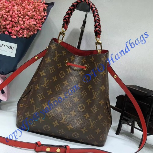 Louis Vuitton Monogram Canvas N 233 Ono 233 With Braided Handle