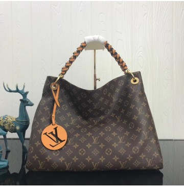 Louis Vuitton Monogram Canvas Artsy MM with braided handle M43994