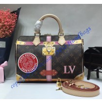 Trompe L'oeil Screen Monogram Canvas Speedy 30 M41386