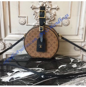 Louis Vuitton Monogram Reverse Canvas Petite Boite Chapeau M43510