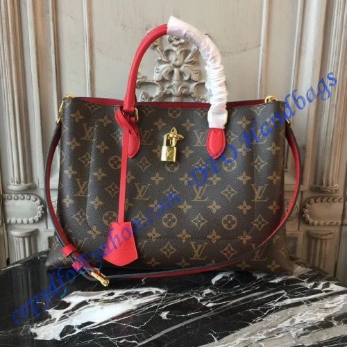 aa197c6d1d0b2 Louis Vuitton Monogram Canvas Flower Tote Coquelicot M43553. Loading zoom