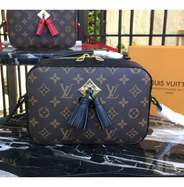 Louis Vuitton Monogram Canvas Saintonge Bag Noir M43555