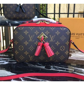 Louis Vuitton Monogram Canvas Saintonge Bag Coquelicot M43556