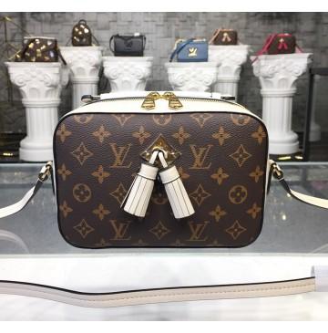 Louis Vuitton Monogram Canvas Saintonge Bag Creme M43559