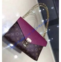 Louis Vuitton Monogram Canvas Pallas Chain with Purple leather