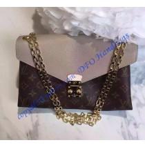 Louis Vuitton Monogram Canvas Pallas Chain with Tan leather