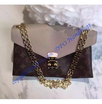 Louis Vuitton Monogram Canvas Pallas Chain with Tan leather