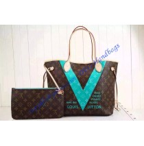 Louis Vuitton Neverfull MM Monogram V Turquoise M41601