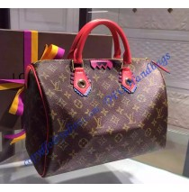 Louis Vuitton Monogram Totem Speedy 30 Flamingo M41665