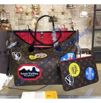 Louis Vuitton Monogram Canvas Neverfull MM World Tour M42844