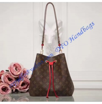 Louis Vuitton Monogram Canvas Neonoe Red