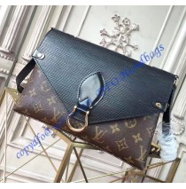 Louis Vuitton Saint Michel with Black Leather