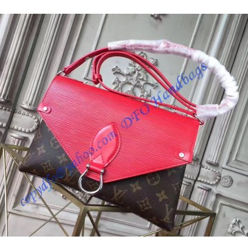Louis Vuitton Saint Michel with Red Leather