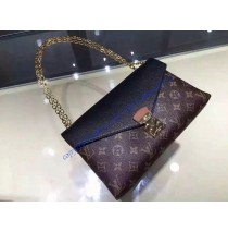 Louis Vuitton Monogram Canvas Pallas Chain with black leather