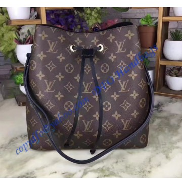 Louis Vuitton Monogram Canvas Neonoe Black M44020