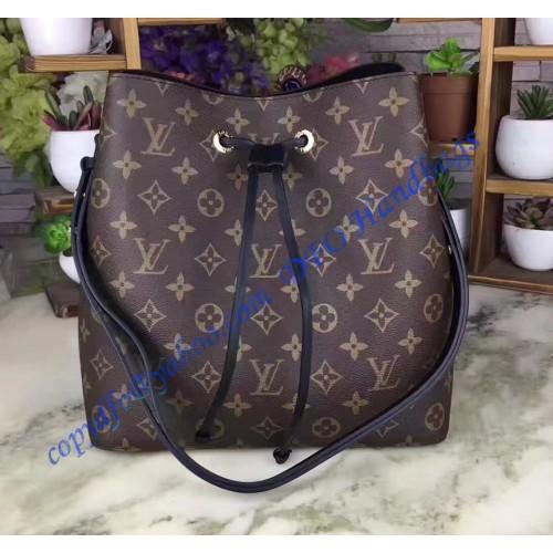 90349d24eded Louis Vuitton Monogram Canvas Neonoe Black M44020. Loading zoom
