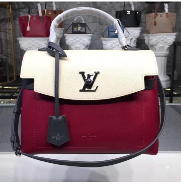 Louis Vuitton Lockme Ever M52431 Lie De Vin Etain Creme