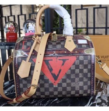 Louis Vuitton Transformed Damier Canvas Speedy 25 with Shoulder Strap M52249