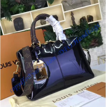 Louis Vuitton Vernis Lisse Tote Miroir Black