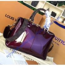 Louis Vuitton Vernis Lisse Tote Miroir Rose Red