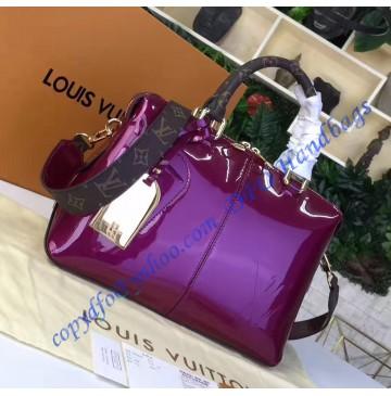 Louis Vuitton Vernis Lisse Tote Miroir Magenta M54640