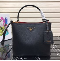 Prada Double Saffiano leather bag Black