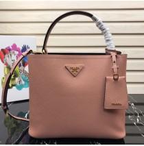 Prada Double Saffiano leather bag Pink