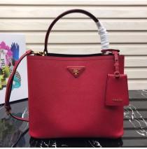 Prada Double Saffiano leather bag Red