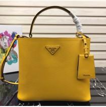 Prada Double Saffiano leather bag Yellow