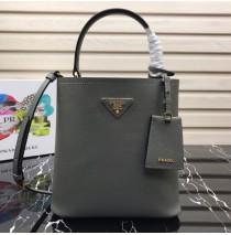 Prada North South Double Bag Gray