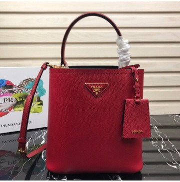 Prada North South Double Bag Red