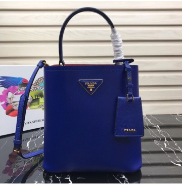 Prada North South Double Bag Royal Blue