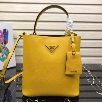 Prada North South Double Bag Yellow