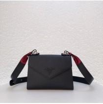 Prada Monochrome Saffiano leather bag Black