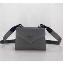 Prada Monochrome Saffiano leather bag Gray