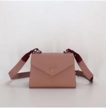 Prada Monochrome Saffiano leather bag Pink