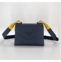 Prada Monochrome Saffiano leather bag Sapphire Blue