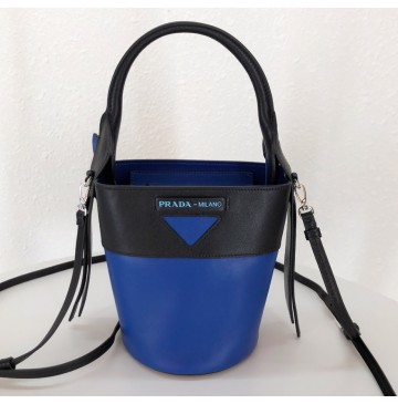 Prada Ouverture nylon bucket bag Blue Black