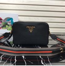 Prada Calf leather shoulder bag Black